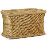 vidaXL Klubska mizica pravokotna 78x50x45 cm bambus