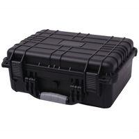 vidaXL Zaščitni Kovček za Opremo 40,6x33x17,4 cm Črne Barve
