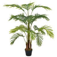vidaXL Umetna palma z loncem zelena 120 cm