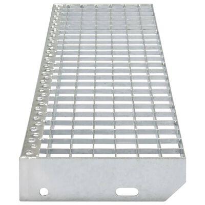vidaXL Stopnice 4 kosi iz stiskanega pocinkanega jekla 1000x240 mm