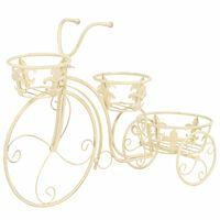 vidaXL Stojalo za rastline v obliki kolesa starinski stil kovina