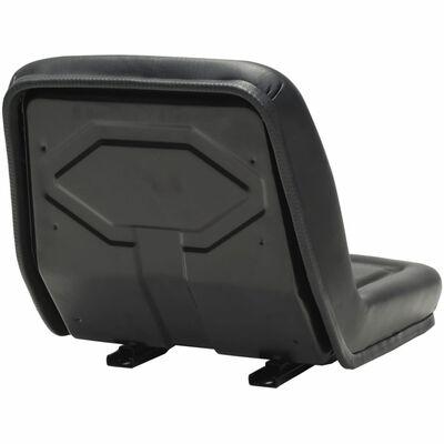 vidaXL Univerzalni sedež za traktor črn