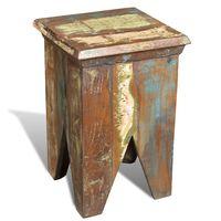 vidaXL Stolček iz trdnega predelanega lesa