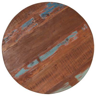 vidaXL Barska miza iz trdnega predelanega lesa 60x(76-110) cm