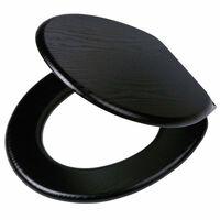 Tiger Deska za WC školjko s počasnim zapiranjem Blackwash MDF črna