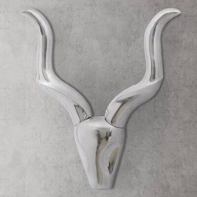 Stenska Aluminijasta Dekorativna Trofeja Gazele Srebrna 50 cm