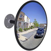 Konveksno notranje prometno ogledalo akrilno črno 30cm