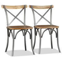 vidaXL Jedilni stoli 2 kosa trden mangov les
