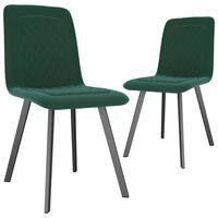 vidaXL Jedilni stoli 2 kosa zelen žamet
