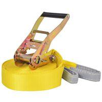 vidaXL Slackline vrv 15 m x 50 mm 150 kg rumene barve