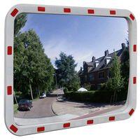 Konveksno prometno ogledalo pravokotno 60x80 cm z odsevniki