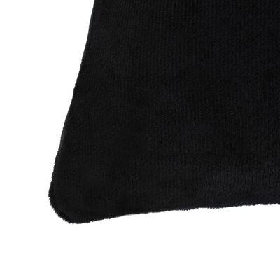 vidaXL Prevleke za blazine 4 kosi žamet 80x80 cm črne barve