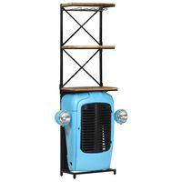 vidaXL Omarica za vino traktor modra 49x31x170 cm trden mangov les