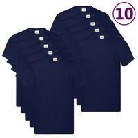 Fruit of the Loom Originalne majice 10 kosov mornarsko modre M bombaž