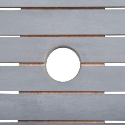 vidaXL Vrtna jedilna garnitura 9-delna trden akacijev les siva