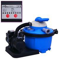 vidaXL Črpalka s peščenim filtrom in časovnikom 450 W 25 L