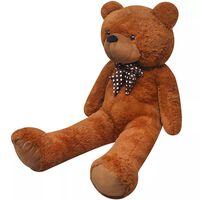 vidaXL XXL plišasti medved rjave barve 85 cm