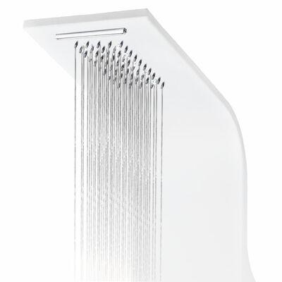 vidaXL Panel za tuš enota aluminij 20x44x130 cm bel