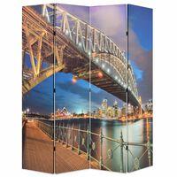 vidaXL Zložljiv paravan 160x170 cm Sydneyski pristaniški most