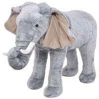vidaXL Stoječa plišasta igrača slon sive barve XXL