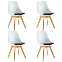 vidaXL Jedilni stoli 4 kosi belo in črno umetno usnje