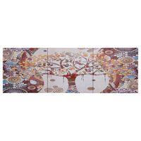 vidaXL Slika na platnu drevo večbarvna 120x40 cm
