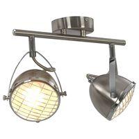 vidaXL Reflektor 2-smerni srebrn GU10