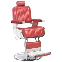vidaXL Frizerski stol rdeč 68x69x116 cm umetno usnje