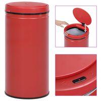 vidaXL Avtomatski smetnjak senzorski 70 L karbonsko jeklo rdeč