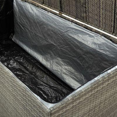 vidaXL Vrtna škatla za shranjevanje poli ratan 180x90x75 cm siva